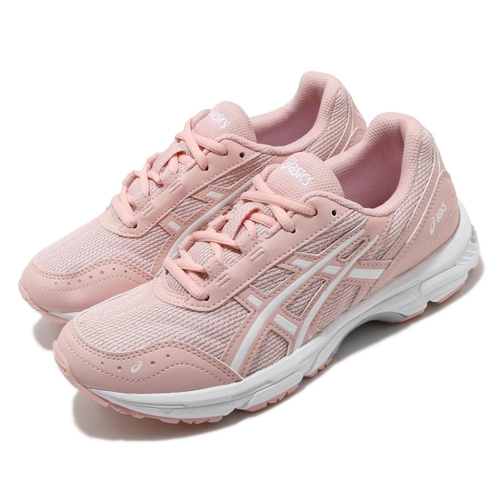 Asics 休閒鞋 Gel Escalate 女鞋 亞瑟士 避震 緩衝 穩定 老爹鞋型 穿搭 粉 白 1202A025701