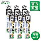 日本獅王LION 無隱角炭纖牙刷 中小頭 6入組