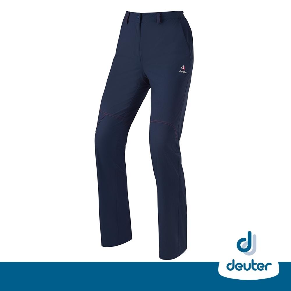 【德國DEUTER】女款透氣防曬快乾彈性長褲DE-PA1602W丈藍/零碼出清