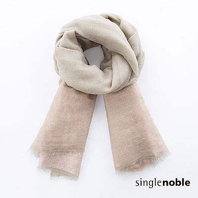 獨身貴族 質樸瑰麗拼接色塊山羊絨圍巾(2色)
