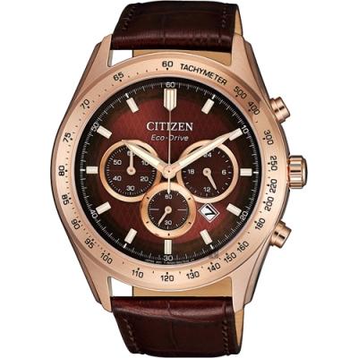 CITIZEN 星辰 情人節光動能計時手錶-44mm(CA4452-17X)