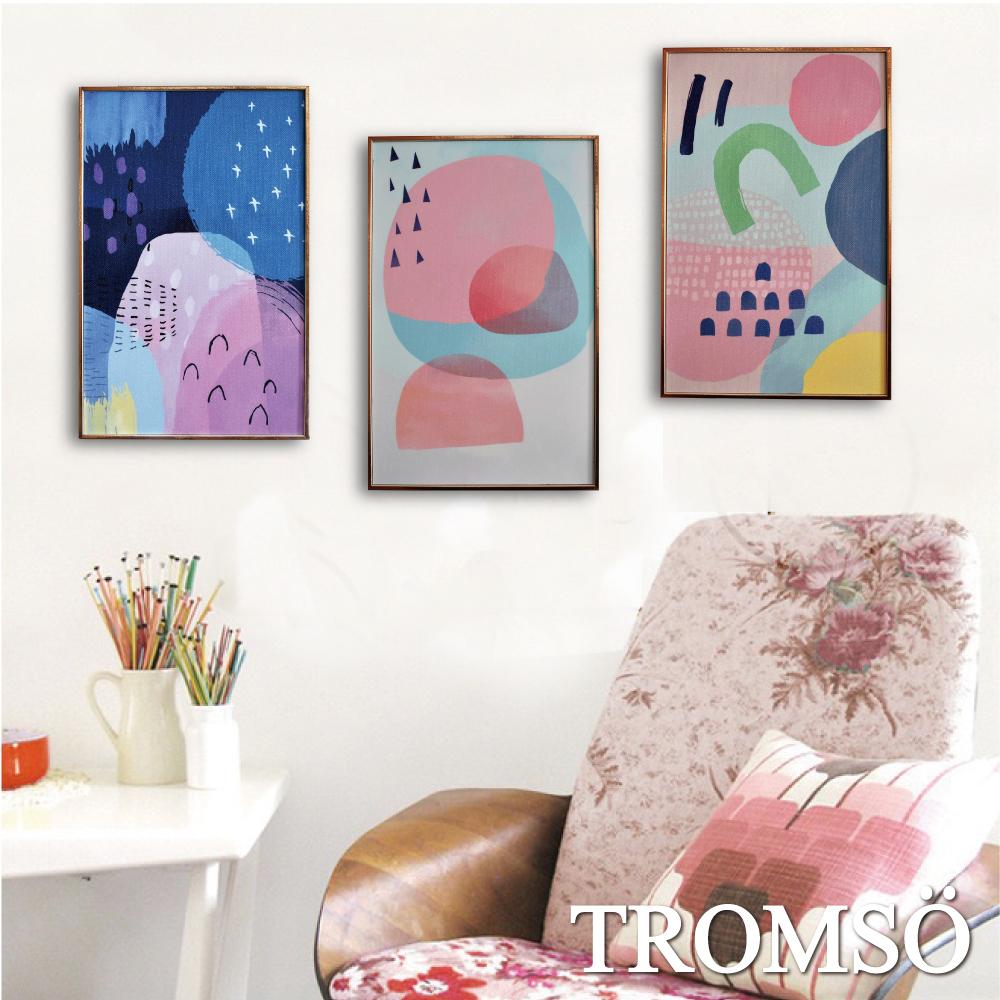 TROMSO 北歐生活版畫有框畫-彩繪北歐WA58(三幅一組)