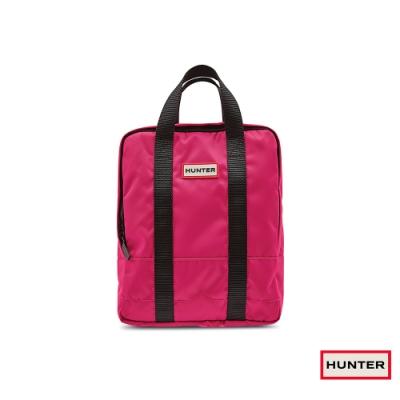 HUNTER - 大童-雙織帶後背包 - 亮粉紅