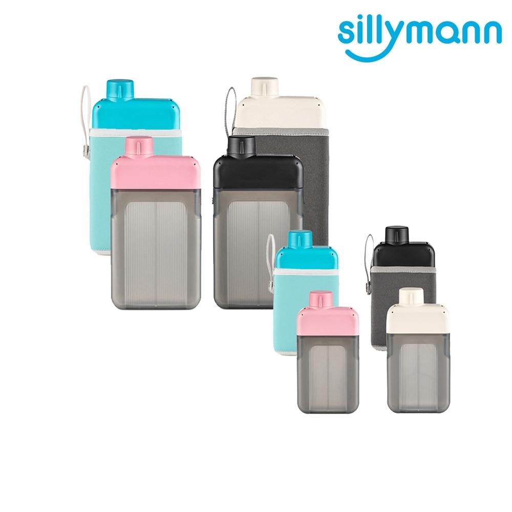 【韓國sillymann】 親子款扁平時尚水壺500ml+300ML
