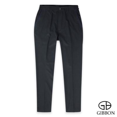 GIBBON 吸濕快乾彈力戶外機能長褲‧黑藍