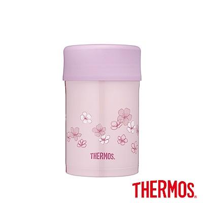 THERMOS膳魔師不鏽鋼真空食物燜燒罐0.5L櫻花粉