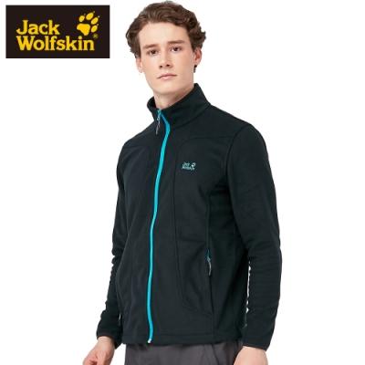 【Jack wolfskin 飛狼】男 防風防潑水立領外套 保暖細絨內裡 『黑色』