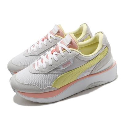 Puma 休閒鞋 Cruise Rider 運動 女鞋 基本款 舒適 簡約 厚底 穿搭 球鞋 白 黃 37507203
