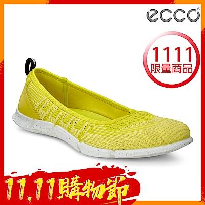 ECCO INTRINSIC KARMA 女輕量針織休閒運動鞋 女-黃