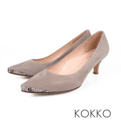 [時時樂限定價]KOKKO質感中跟鞋平底鞋  四款任選/均一價1180