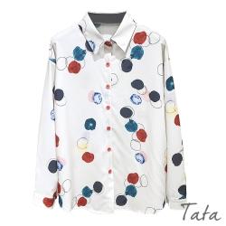 彩色圓點圈寬鬆雪紡襯衫 TATA-F