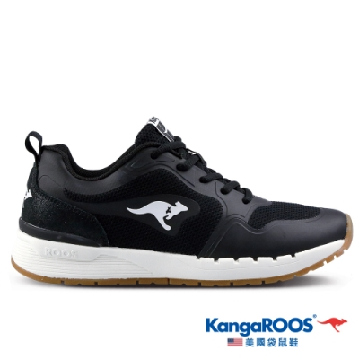KangaROOS 美國袋鼠鞋 女 FUTURE 潮山野復古跑鞋(黑-KW11250)