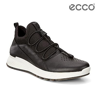 ECCO ST.1 WOMEN S 舒適動能套入式休閒運動鞋 女-黑