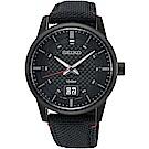 SEIKO精工 CS簡約大日期視窗腕錶(SUR271P1)-黑/40mm