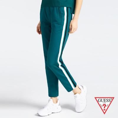 GUESS-女裝-配條運動休閒長褲-綠