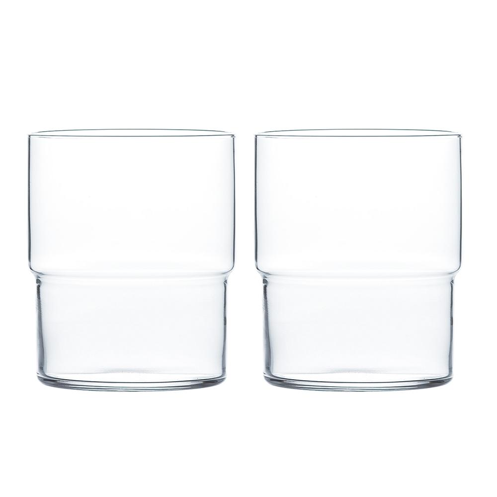 日本TOYO-SASAKI Fino薄口玻璃水杯 390ml-2入組
