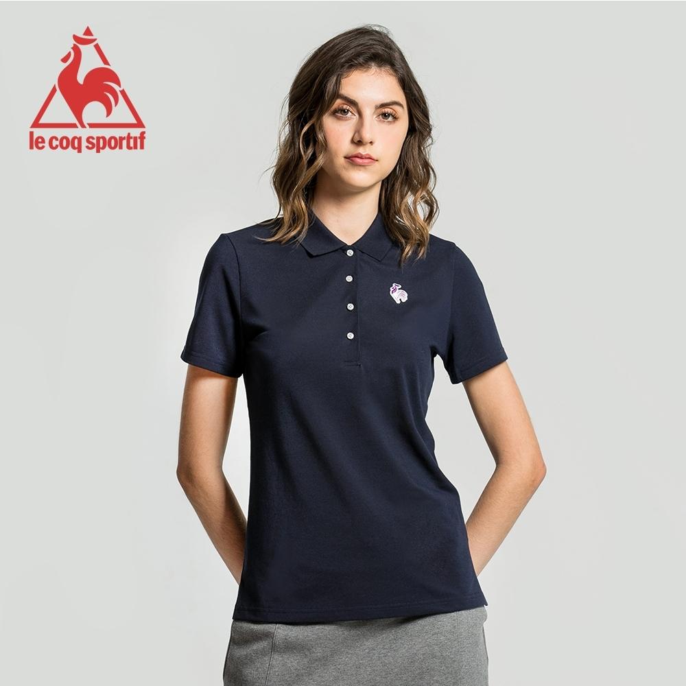 法國公雞牌短袖POLO衫 LWJ2314339-女-藏青