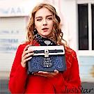Just Star 康妮bling撞色鎖釦掀蓋包 璀璨藍