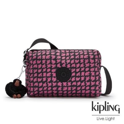 Kipling 時尚塗鴉線條撞色小巧簡約拉鍊方包-COLLEEN