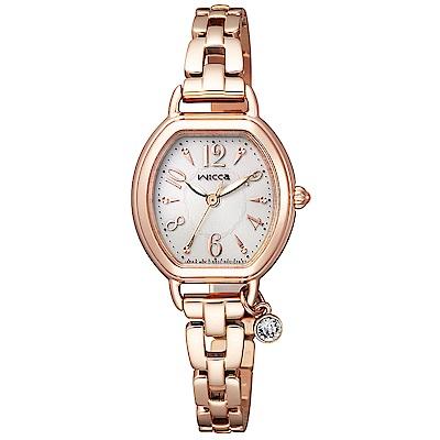 WICCA星辰晶鑽時尚手錶(KP2-566-91)-白X玫瑰金/24mm