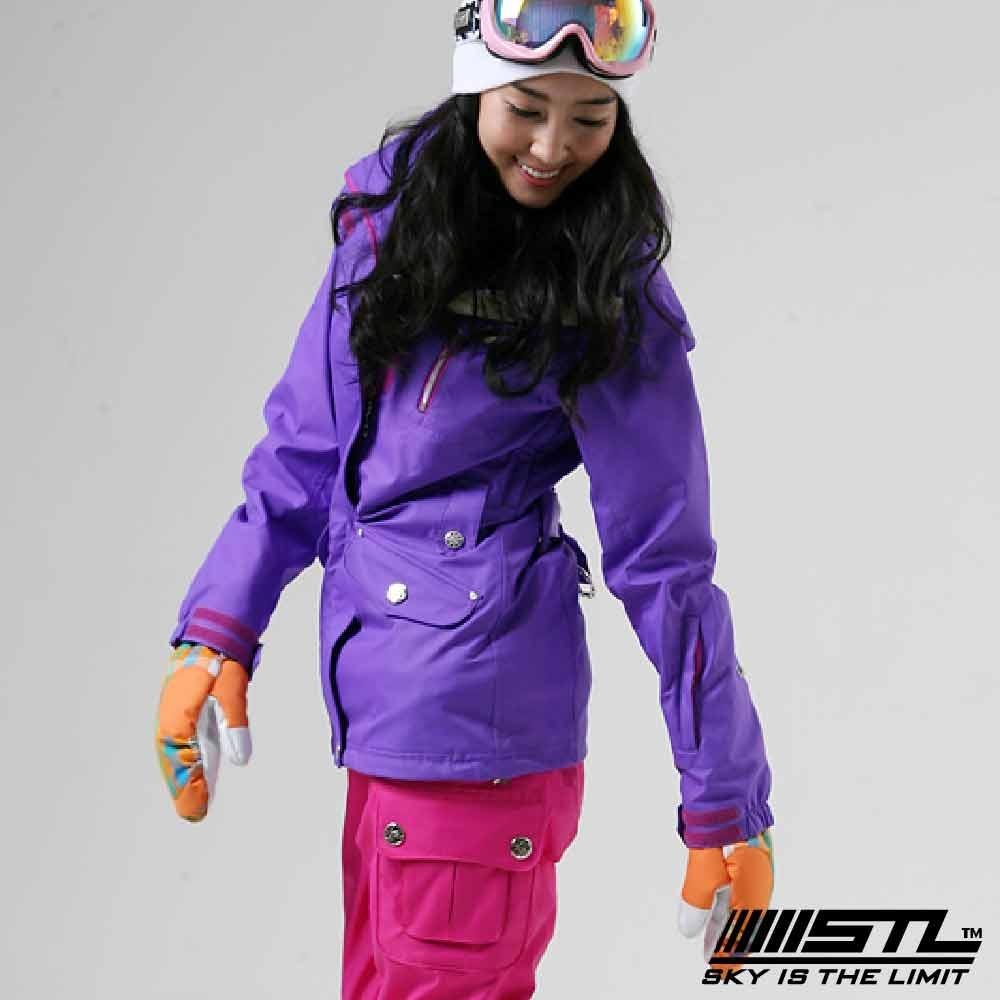 STL Snow 韓國戶外機能滑雪板/雪衣外套 男女款 紫