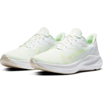 NIKE 慢跑鞋 氣墊 避震 運動鞋 女鞋 白綠 CJ0302100