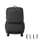 ELLE 都市再生系列 輕量多隔層搭配皮革設計機能收納筆電後背包-灰 EL83936