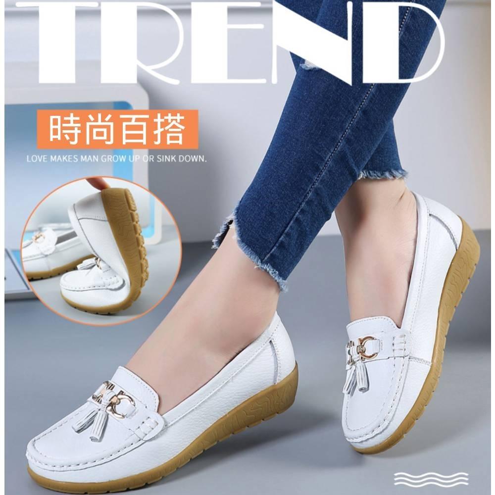 LN 現+預 法式優雅金屬扣小流蘇真皮鞋-4色