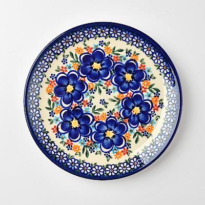 波蘭陶 春遊系列 圓形餐盤 19cm 波蘭手工製