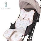 L.A. Baby  多功能3D涼感推車汽座餐椅座墊-加長型(頭枕可拆可調)熊熊家族白