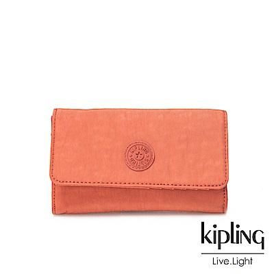 Kipling粉橘素面長/短夾(小)