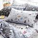 OLIVIA 星際冒險 淺灰 標準單人床包美式枕套兩件組 200織精梳純棉 台灣製 product thumbnail 1