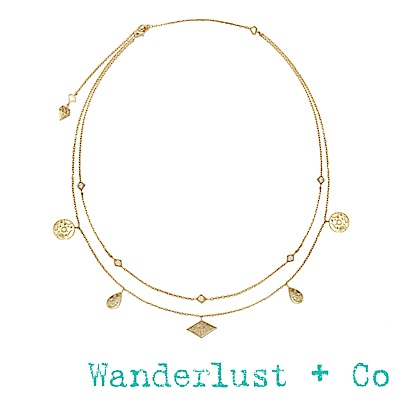 Wanderlust+Co星系頸鍊 - 金色
