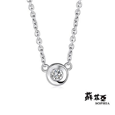 蘇菲亞SOPHIA 鑽石項鍊-小可愛0.05克拉套鍊