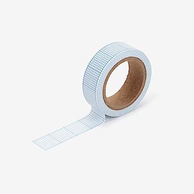 Dailylike 單捲紙膠帶-134 藍方格