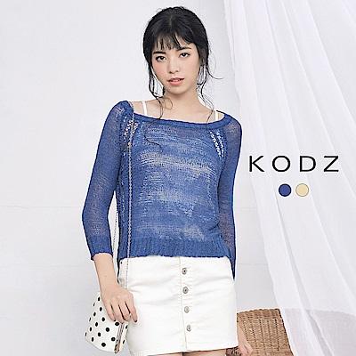 東京著衣-KODZ 歐美休閒質感針織上衣-S.M(共二色)