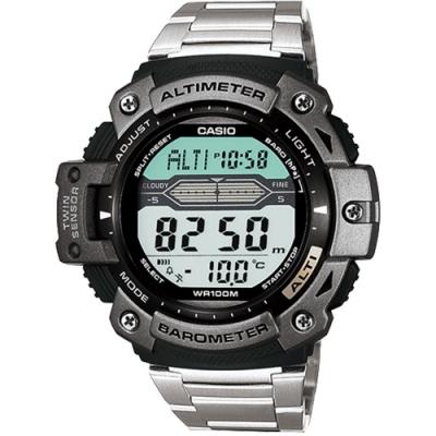 CASIO 卡西歐 多功能戶外運動錶-銀(SGW-300HD-1A)