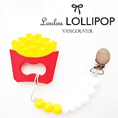 加拿大Loulou lollipop加拿大 嬰幼兒造型 固齒器組/奶嘴鍊夾-黃金薯條