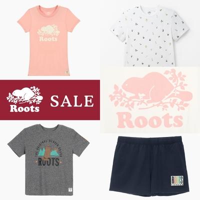 [時時樂限定]ROOTS 男女款經典logo tee/短褲 - 多款選