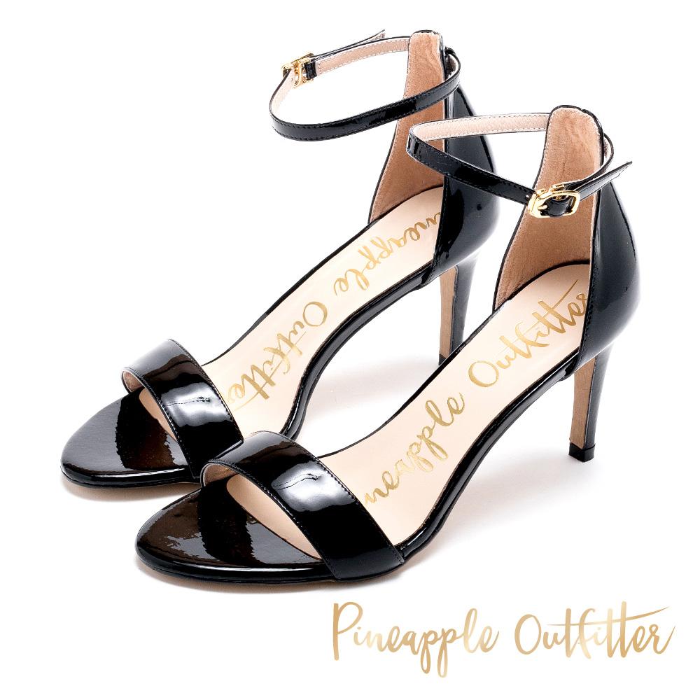 Pineapple Outfitter 浪漫約會 繞踝露趾高跟涼鞋-黑色
