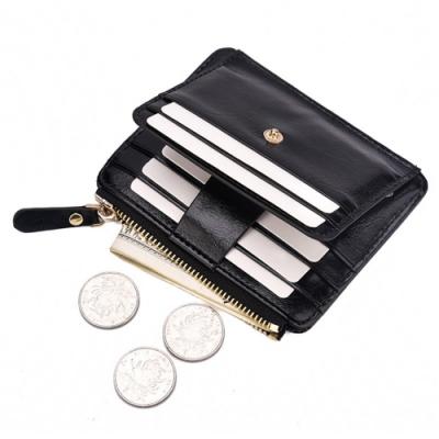 AmaZing 美式拉鍊零錢按扣卡片短夾 (2色任選)