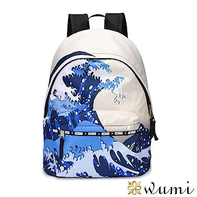 WuMi 無米 輕潮流系列後背包-波濤洶湧 藍