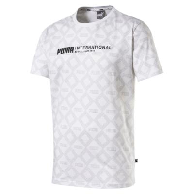 PUMA-男性基本系列Logo短袖T恤-白色-歐規
