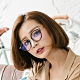 ALEGANT時尚教主潮流琥珀金邊UV400濾藍光眼鏡│提香的斑斕筆觸 product thumbnail 1