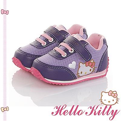 HelloKitty 透氣輕量減壓吸震休閒童鞋-紫