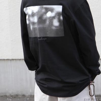 ZIP日本男裝 風景寫真印字刺繡素色寬版長袖TEE(18色)