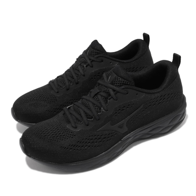 Mizuno 慢跑鞋 Wave Revolt 2 寬楦 男鞋 美津濃 路跑 緩震 輕量 透氣 基本款 黑 J1GC218511