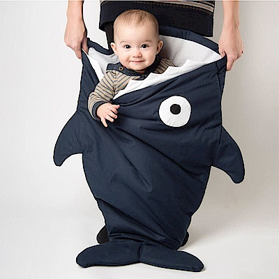 【嬰幼兒標準版-丈青藍】BabyBites西班牙鯊魚咬一口睡袋