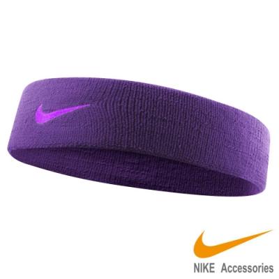 NIKE 單色彈性頭帶2.0-紫