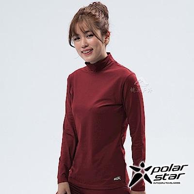 PolarStar 女 遠紅外線高領保暖衣『棗紅』 P18250